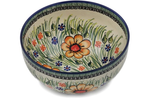 "Polish Pottery Bowl 10"" by Cer-Raf"
