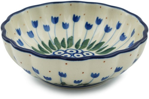 Polish Pottery Small Fluted Bowl
