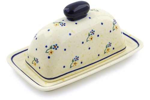 "Polish Pottery Single Butter Dish 7"" Zaklady Ceramiczne"
