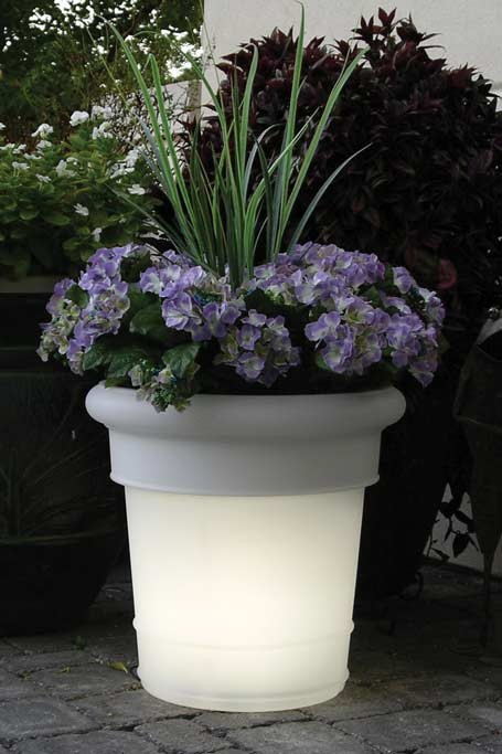 LED GardenGlo SOLAR Powered, Color Changing Planter